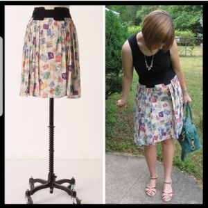 Anthropologie Skirts - Anthropologie • Airmail Postage Pleated Skirt